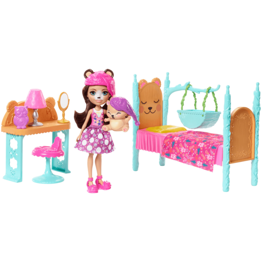 Enchantimals Dreamy Bedroom Playset   Bren Bear Doll And Snore Figure