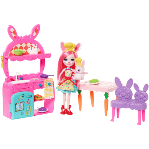 Enchantimals Kitchen Fun Playset - Bree Bunny Doll and Twist Figure
