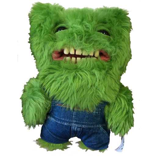 Fuggler 22cm Funny Ugly Monster - Green With Dungarees