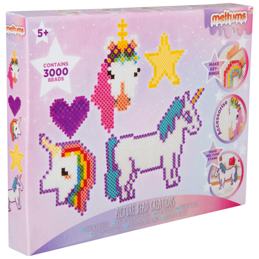 Meltums Picture Bead Creation - Unicorns