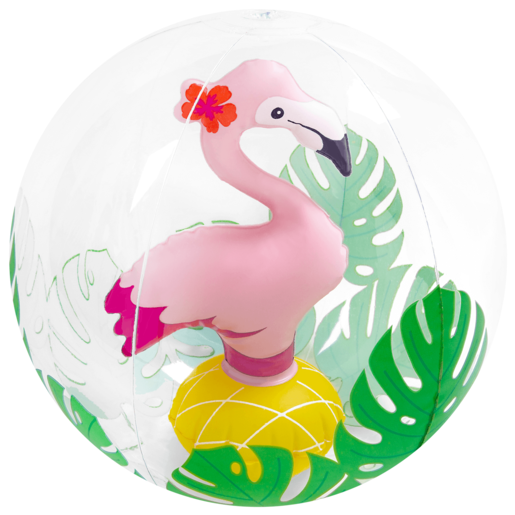 Inflatable 3D 30cm Pool Toy - Flamingo Beach Ball