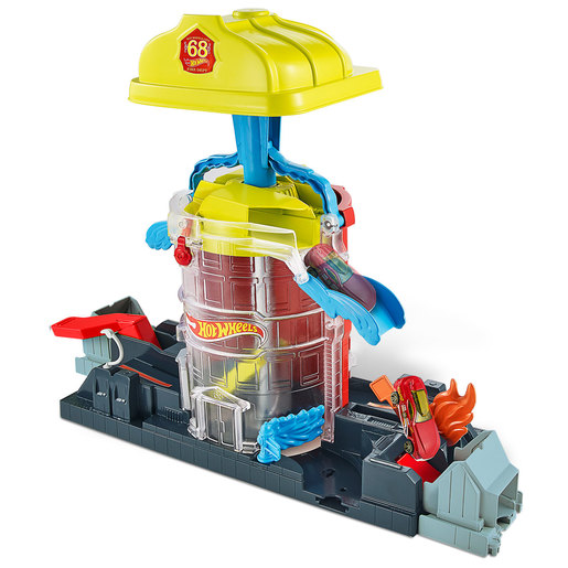 Hot Wheels City - Super Fire House Rescue Playset