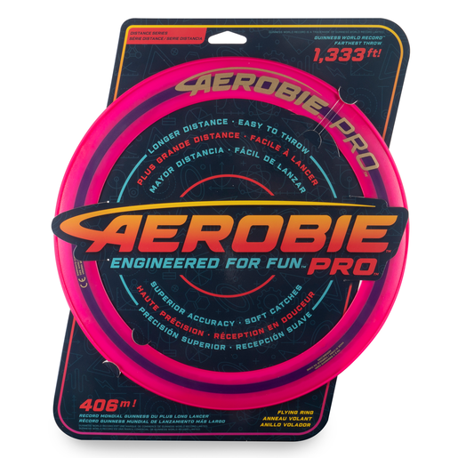 Aerobie Pro 33cm Flying Ring - Pink