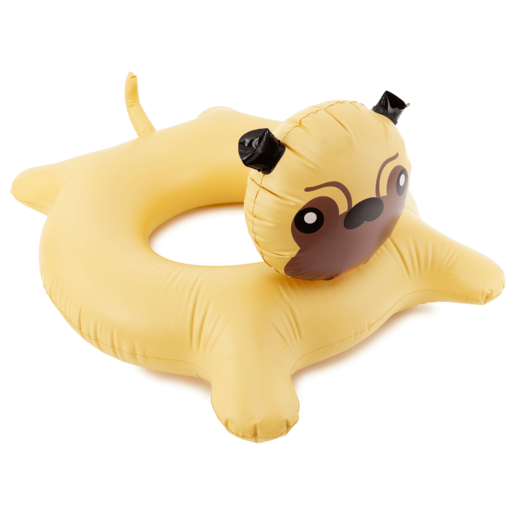 Inflatable Giant 90cm Pool Toy - Swim Ring  Pug Dog