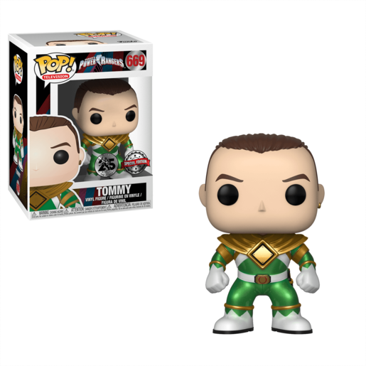 Funko Pop! Television: Power Rangers - Green Ranger (Without Helmet)