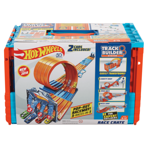 Hot Wheels Race Crate Track Set