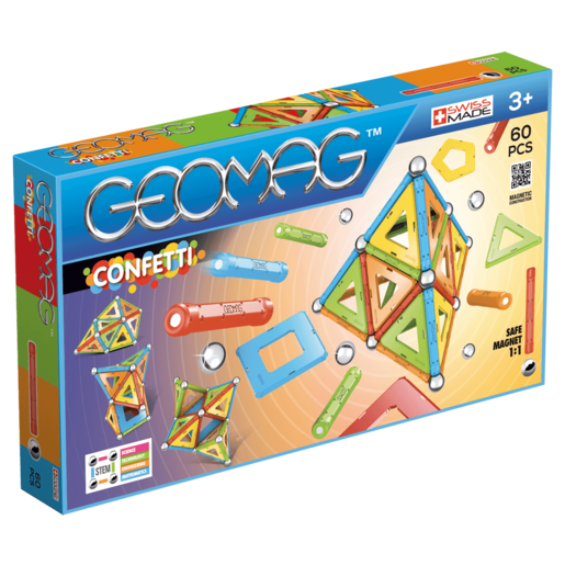 Geomag Confetti Construction Set -  60 Pieces