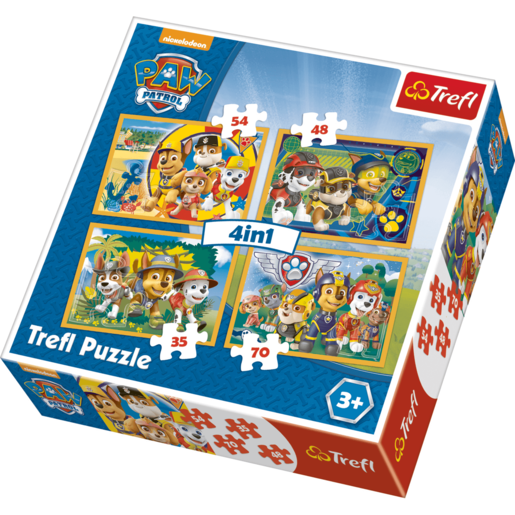 Trefl 4 in 1 Puzzle Paw Patrol - Always on Time