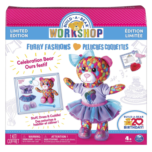 Build A Bear Workshop - Furry Fashions 20th Birthday Celebration Bear