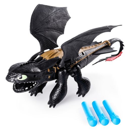 DreamWorks Dragons -Toothless Dragon Blaster with Foam Darts