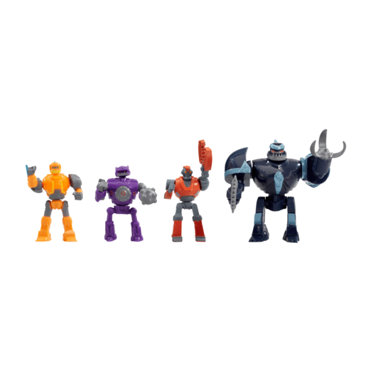 Robozuna Battle 'N' Build 4 Pack Action Figures