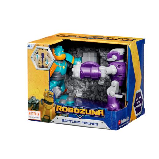 Robozuna 12.5cm Battling Figure Dual Pack - Pounder vs Clunk