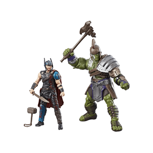 Marvel Legends Thor Ragnarok 10cm Action Figures - Thor and Hulk