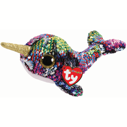 Ty Flippables 15cm Soft Toy - Calypso The Narwhal