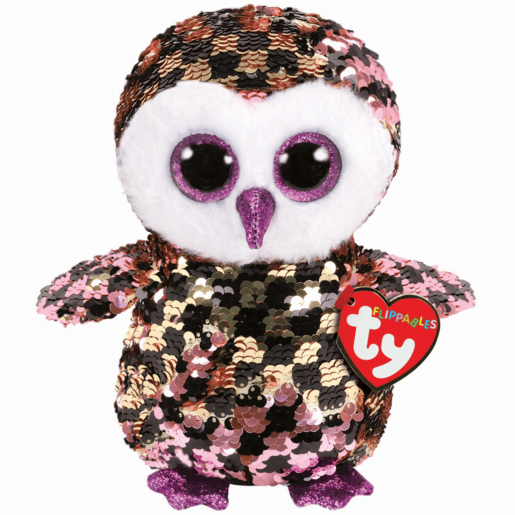 Ty Flippables 15cm Soft Toy - Checks Owl