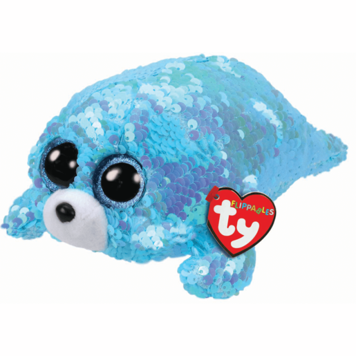 Ty Flippables 15cm Soft Toy - Wave Aqua Seal