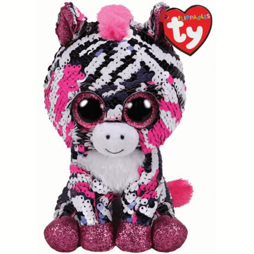 Ty Flippables 15cm Soft Toy - Zoey Zebra