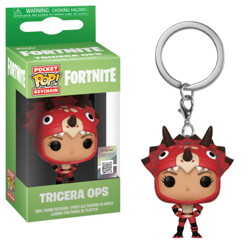 Funko Pocket Pop!: Fortnite Keychain - Tricera Ops