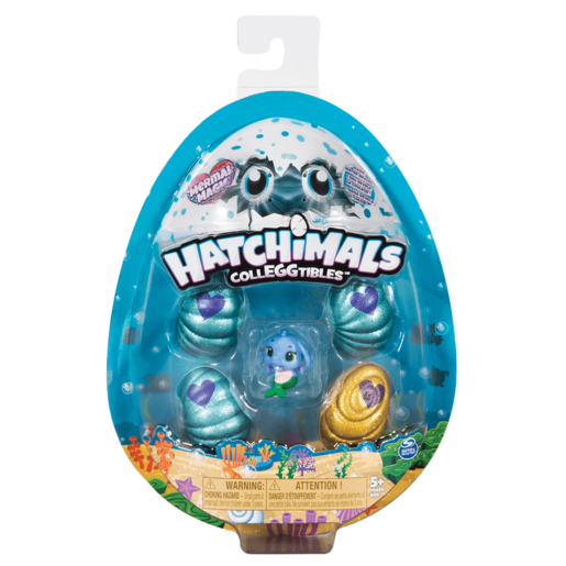 Hatchimals CollEGGtibles Season 5 Mermal Magic - 4 Pack Egg Carton