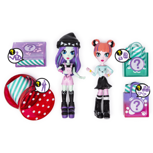 Off The Hook Style 10cm Dolls Brooklyn and Alexis Concert Playset