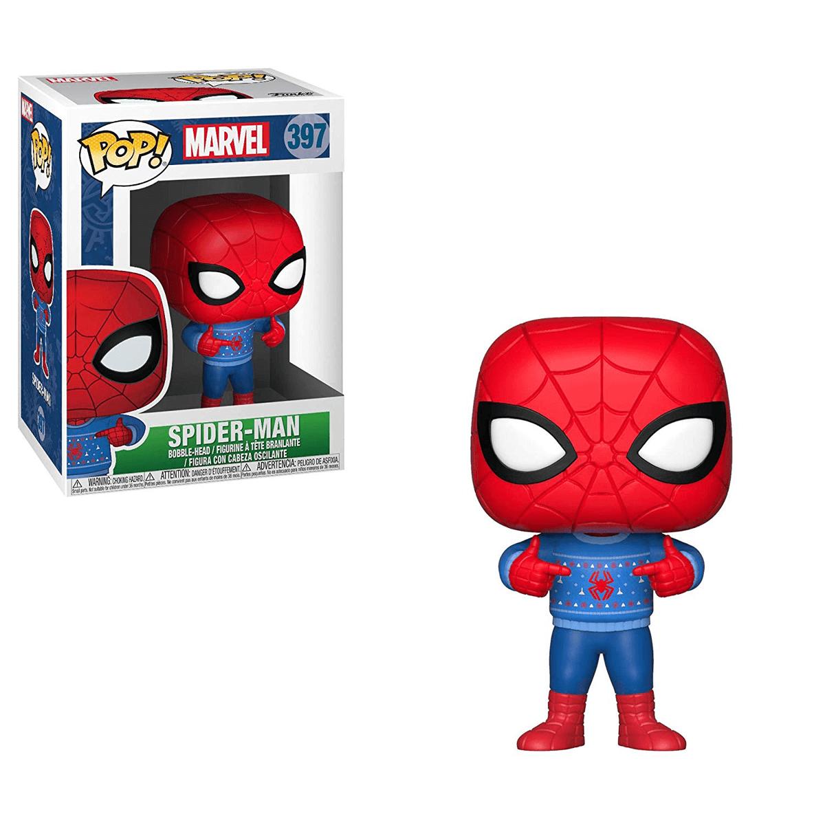 Spiderman Christmas.Funko Pop Marvel Spider Man Christmas Edition
