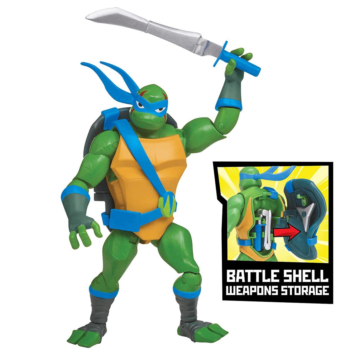 Teenage Mutant Ninja Turtles Battle Shell Leonardo Action Figure Discontinued