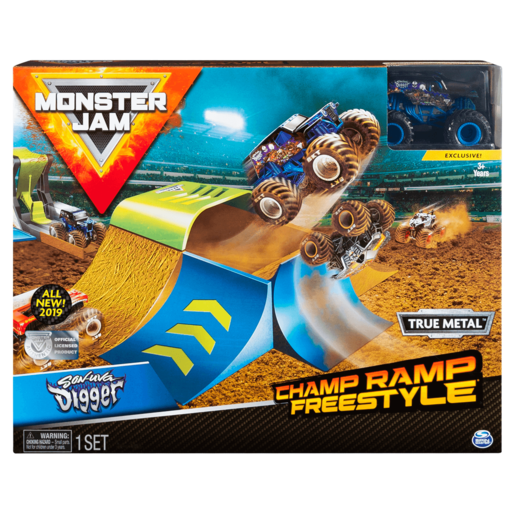 Monster Jam Champ Ramp Freestyle Playset - 1:64