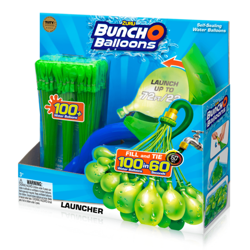 Bunch O Balloons Launcher with 100 Water Balloons - Green By ZURU