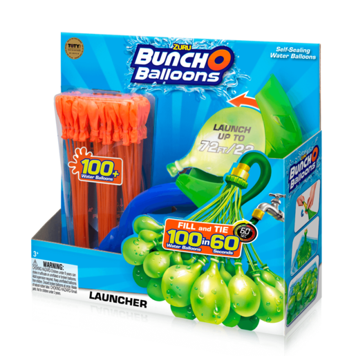 Bunch O Balloons Launcher with 100 Water Balloons - Orange By ZURU