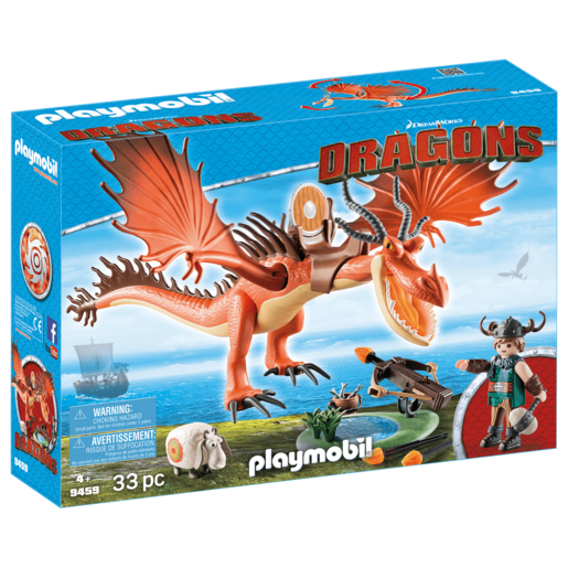 Playmobil DreamWorks Dragons Snotlout And Hookfang   9459