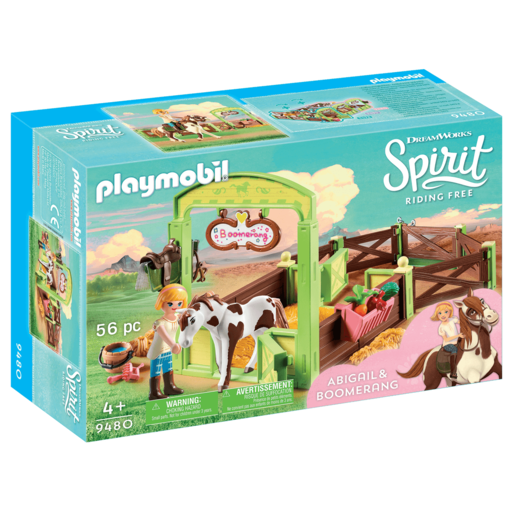 Playmobil DreamWorks Spirit Abigail And Boomerang With Horse Stall   9480