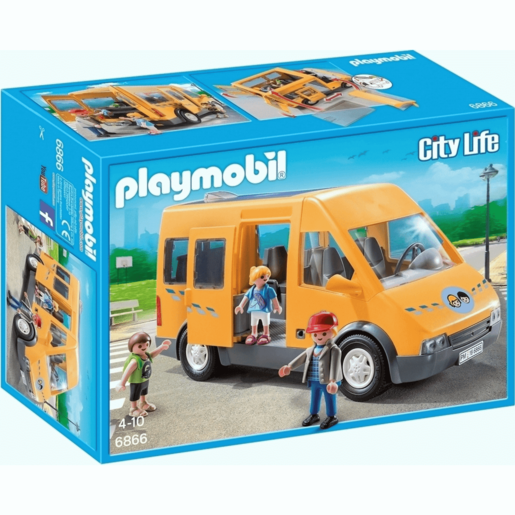 Playmobil City Life School Bus with Removable Roof - 6866