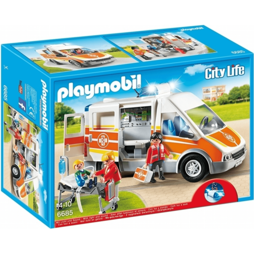 Playmobil City Life Ambulance with Lights and Sound - 6685