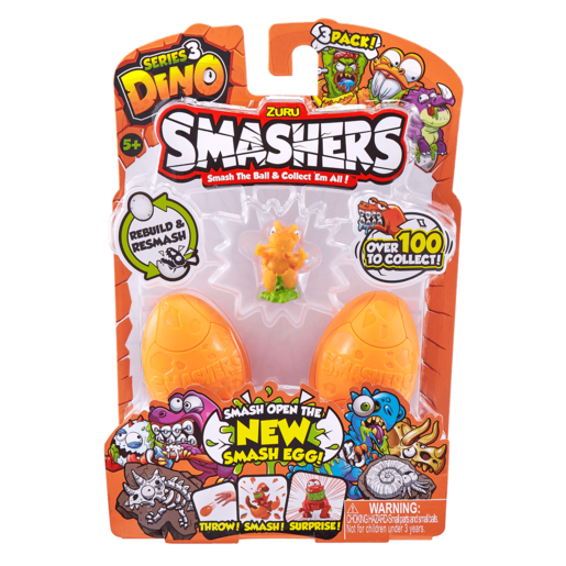Smashers Smash Ball Series 3 Dino - 3 Pack