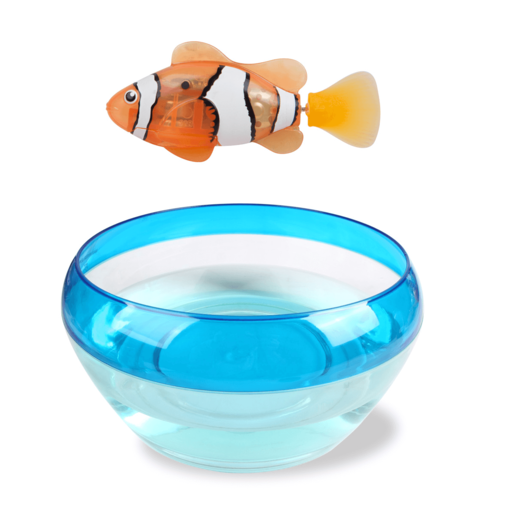 Robo Alive Real-Live Robotic Pet - Clownfish and Bowl