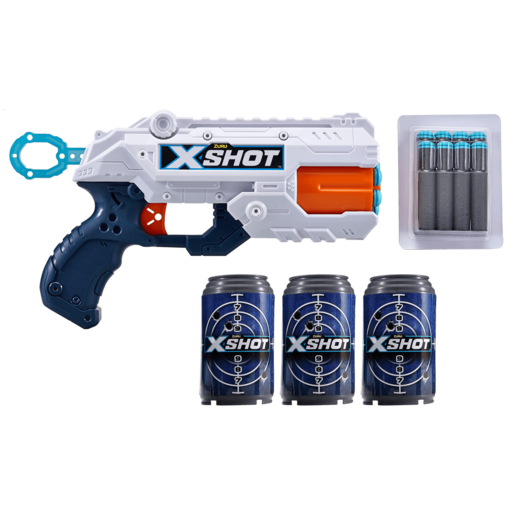 X-Shot Double Reflex 6 Foam Dart Blaster Combo Pack - 8 Darts 3 Cans By ZURU