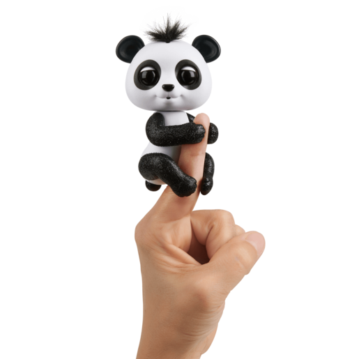 Fingerlings Glitter Panda - Drew (White and Black)