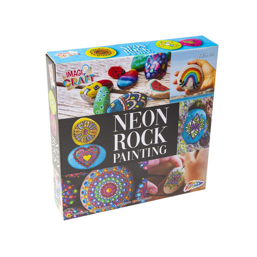 Rock Painting Kit - Neon