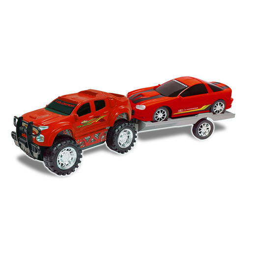 Truck and Trailer - Red