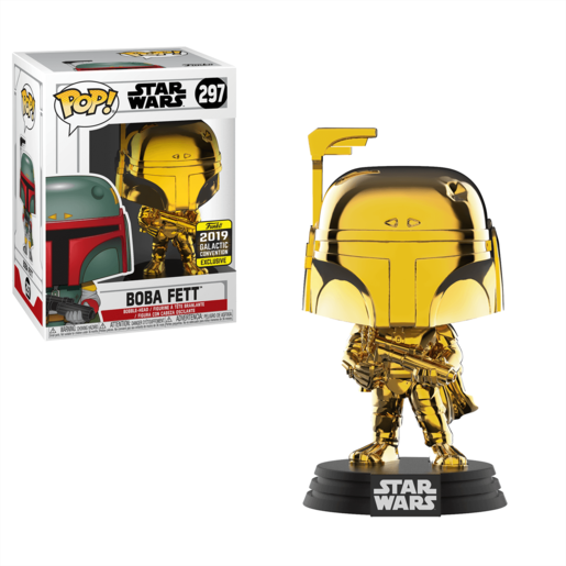 Funko Pop! Star Wars - Chrome Boba Fett - 2019 Galactic Convention (UK Exclusive)