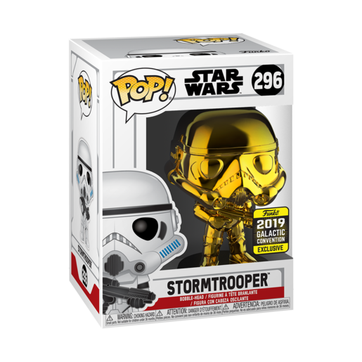 Funko Pop! Star Wars: Chrome Stormtrooper - 2019 Galactic Convention