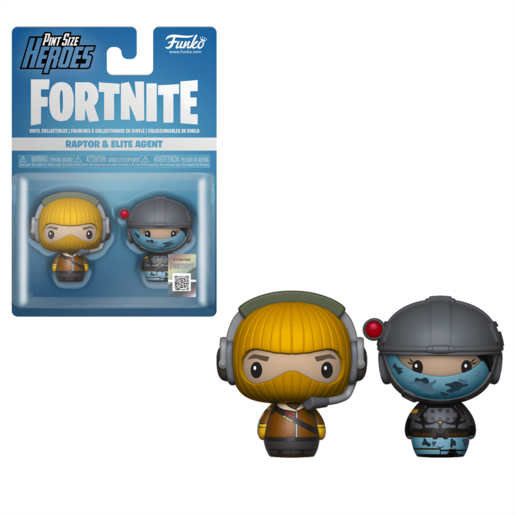 Funko Pop! Pint Size Heroes: Fortnite 2 Pack - Raptor and Elite Agent