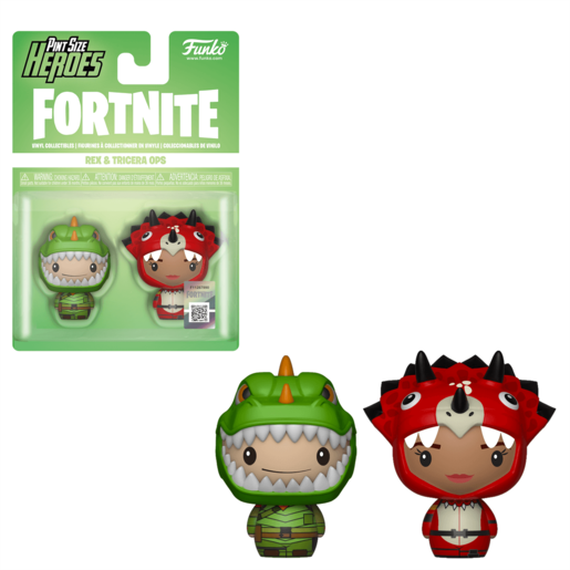 Funko Pop! Pint Size Heroes: Fortnite 2 Pack - Rex and Tricera Ops