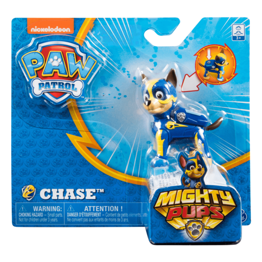 Paw Patrol Mighty Pups Figure - Chase