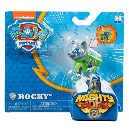 Paw Patrol Mighty Pups Figure - Rocky