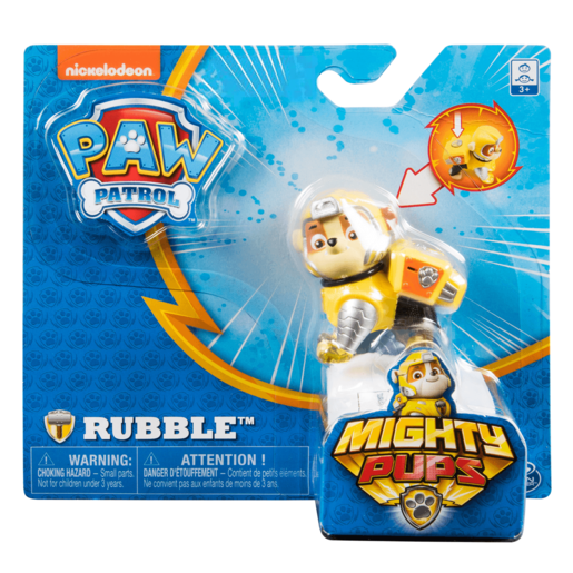 Paw Patrol Mighty Pups Figure - Rubble