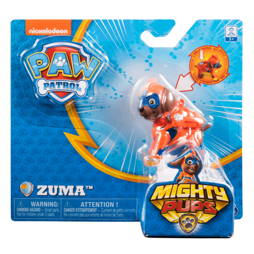Paw Patrol Mighty Pups Figure - Zuma