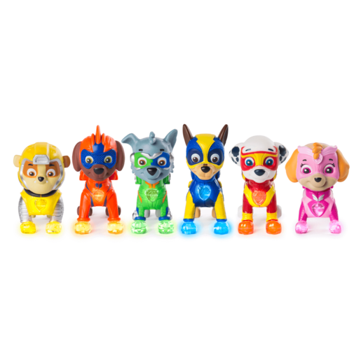 Paw Patrol Mighty Pups 6 Pack Set