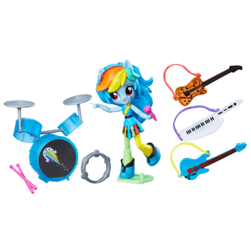 My Little Pony Equestria Girls - Rainbow Dash Rocking' Music Class Set