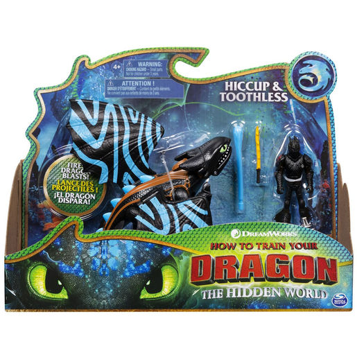 DreamWorks Dragons: The Hidden World - Hiccup and Toothless (Blue Wings)